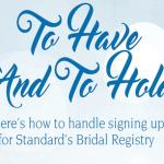 Standard's Bridal Registry Do's